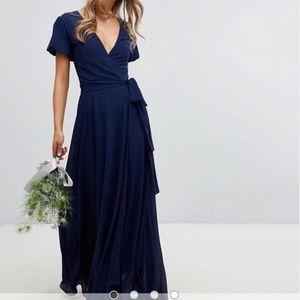 NWT from ASOS Navy Blue Maxi Dress ( Bridesmaid )
